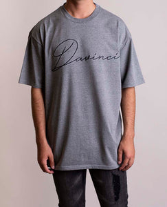 Davinci Oversized Signature Grey Tee