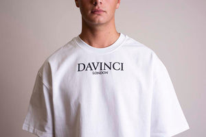 Oversized Davinci Original Tee White