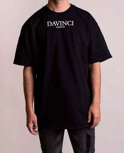 Oversized Davinci Original Tee Black