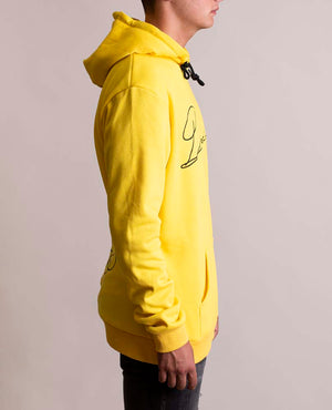 Signature Hoodie with Embroidery D Yellow