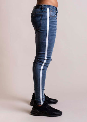 Davinci London Blue with white Tape Detail Skinny Jeans