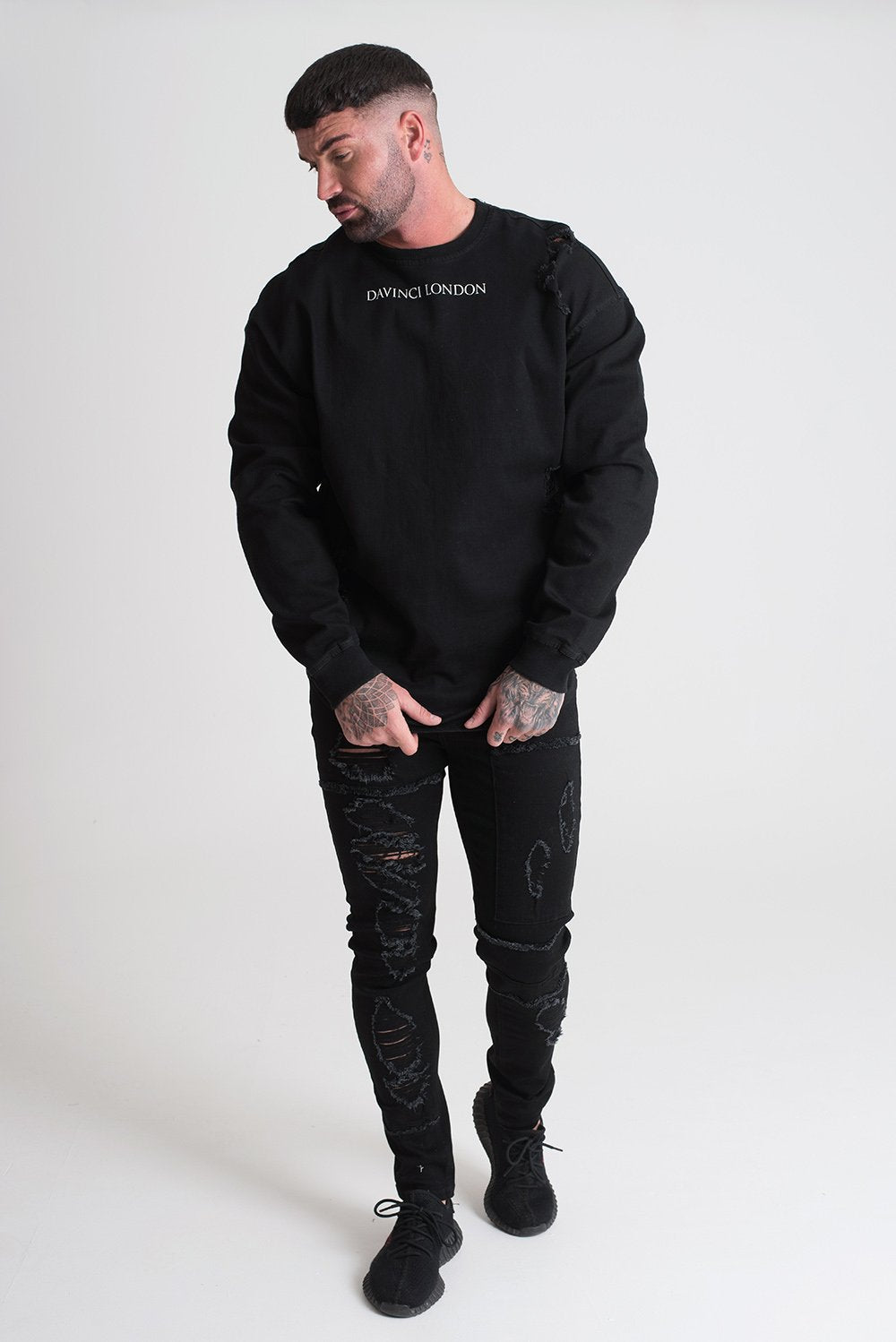 Davinci Distressed Jumper Black