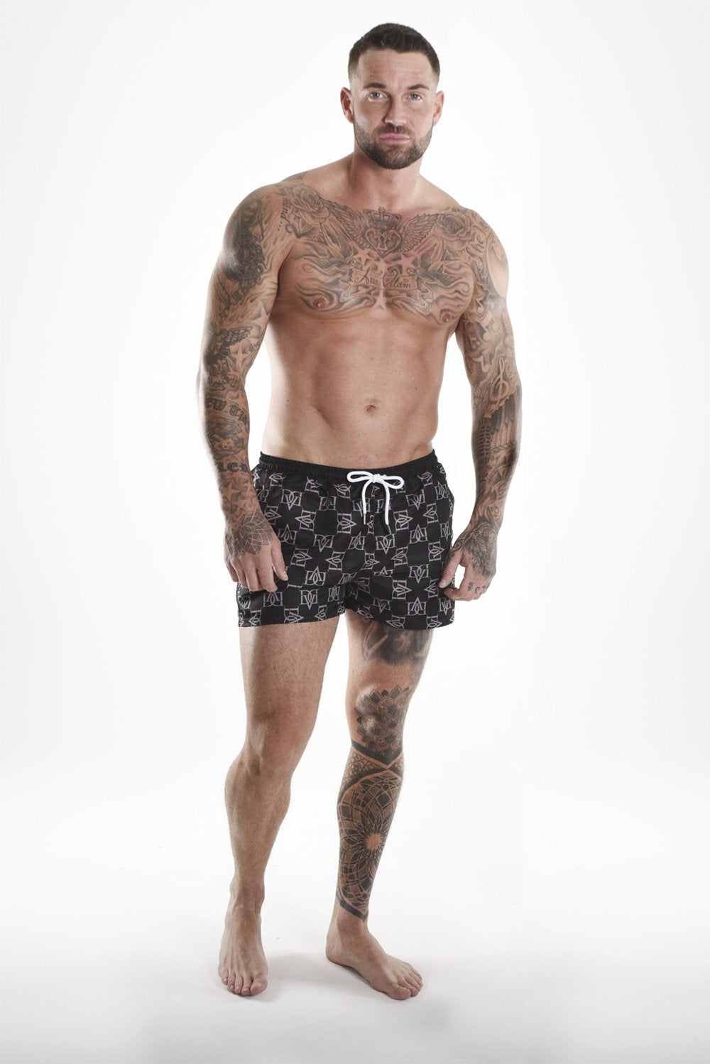 Davinci Pattern Shorts