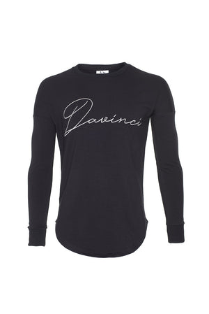 Drop Shoulder Signature Jumper Black