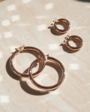 Amalfi Tube Hoops- Rose Gold