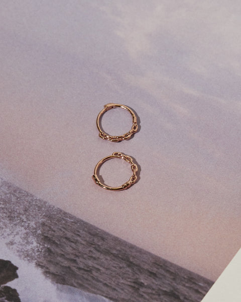 Continuous Chain Hoops- Rose Gold