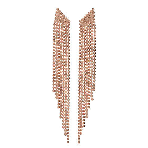 Cascading Chain Earrings- Rose Gold