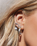 Marquise Dangle Studs- Silver