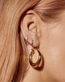 Martina Tube Hoops- Gold