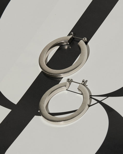 Celine Hoops- Silver (Ships Late November)