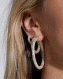 Pave Amalfi Hoops- Gold- Rainbow Crystal (Ships Mid January)