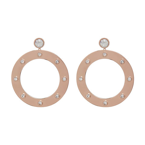 Adona Statement Hoops- Rose Gold