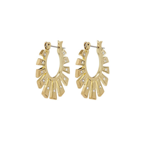 Whimsy Flare Mini Hoops- Gold