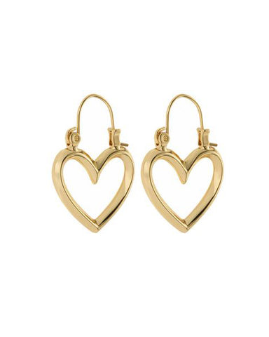 Mini Heartbreaker Hoops- Gold