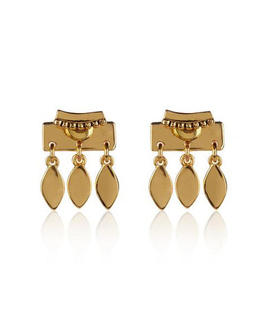 Marquise Dangle Studs- Gold (Ships Mid February)