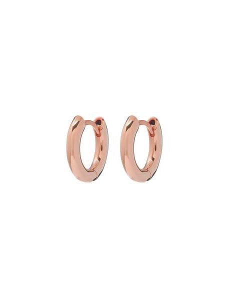 Plain Amalfi Huggies- Rose Gold
