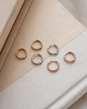 Mini Continuous Beaded Huggies- Rose Gold