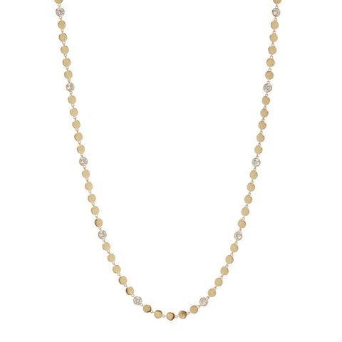 Diamond Disc Wrap Necklace- Gold