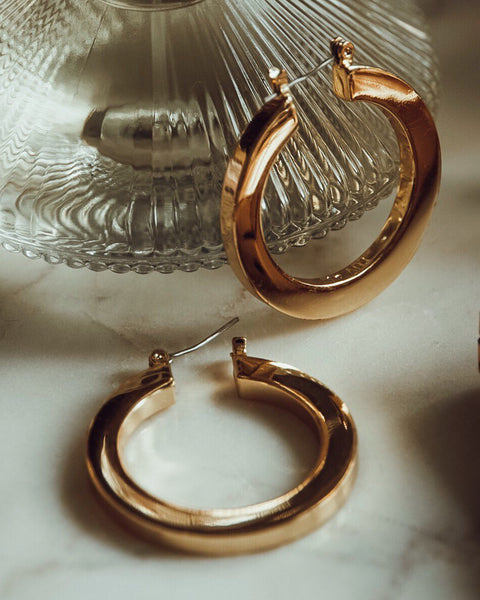 Celine Hoops- Rose Gold