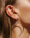 Pave Hex Ear Cuff - Rose Gold