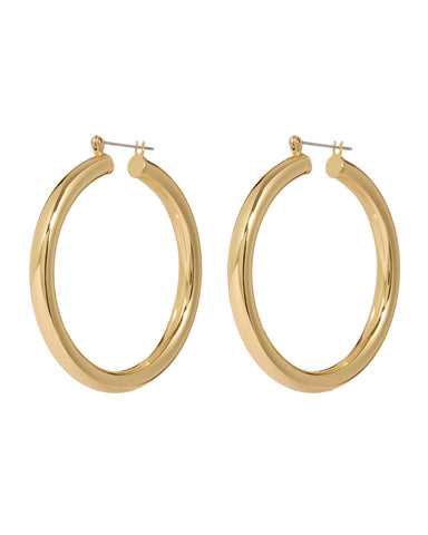 Amalfi Tube Hoops- Gold