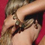 The Cross Coin Bracelet- Gold