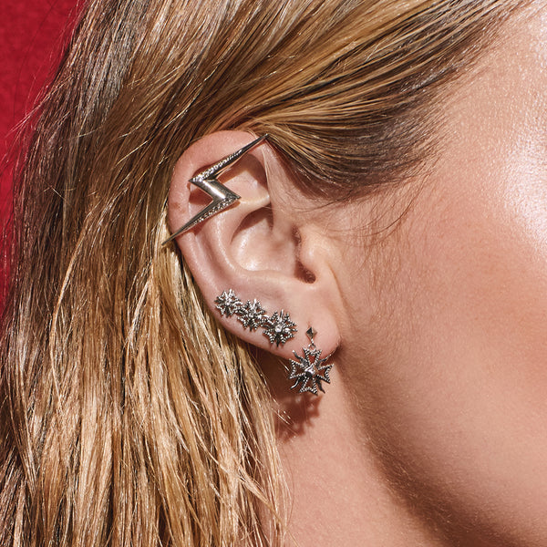 The Bolt Ear Cuff- Silver