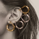 The Fleur Hoops- Gold