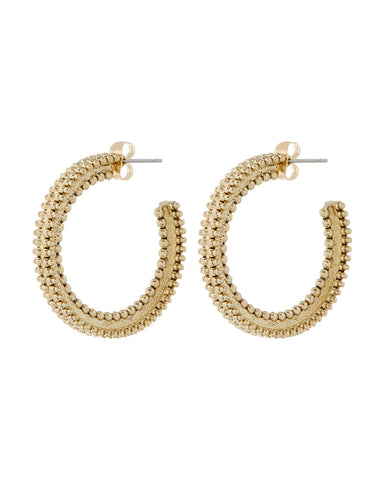 Amira Hoops- Gold (Ships Late November)