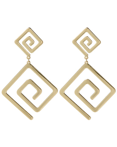 Athens Statement Earrings- Gold