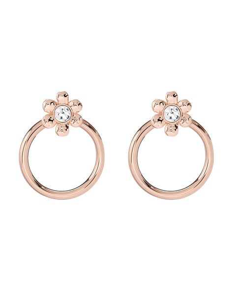 Flora Statement Hoops- Rose Gold