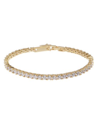 Ballier Bracelet- 3MM Round- Gold (Ships Mid March)