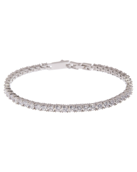 Ballier Bracelet- 3MM Round- Silver (Ships Late April)