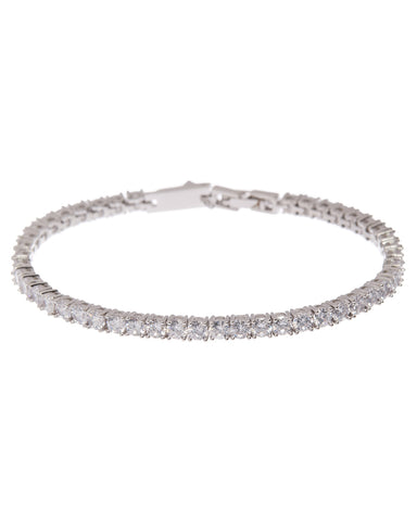 Ballier Bracelet- 3MM Round- Silver (Ships Early April)