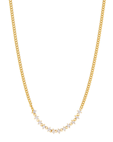 Ballier Curb Chain Necklace- Gold (Ships Late December)