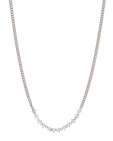 Ballier Curb Chain Necklace- Silver (Ships Late December)