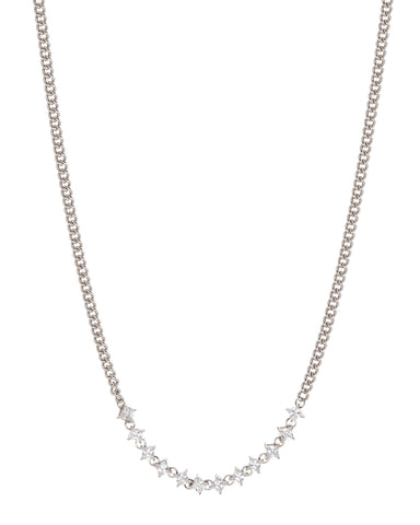 Ballier Curb Chain Necklace- Silver