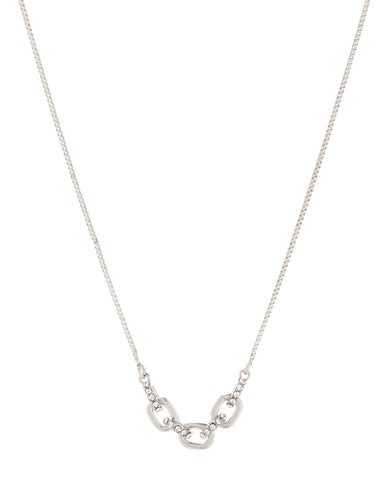 Blair Chain Charm Necklace- Silver