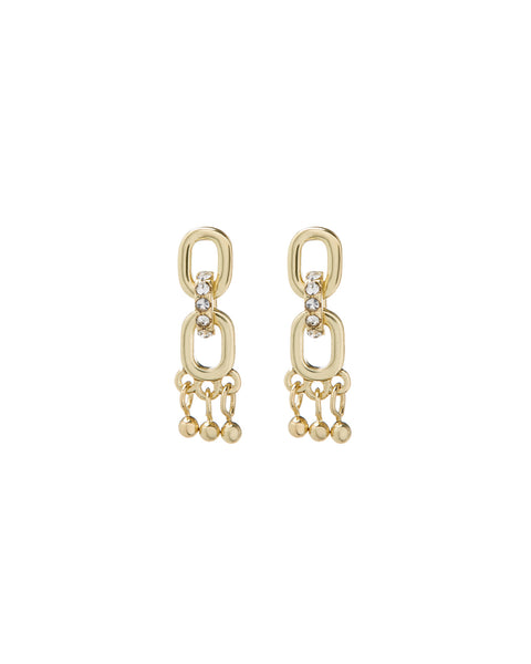 Blair Chain Shaker Studs- Gold