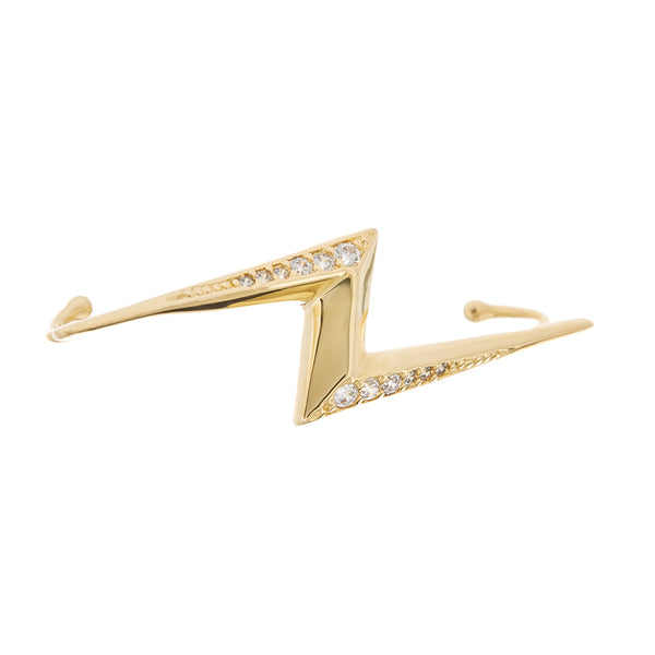 The Bolt Ear Cuff- Gold