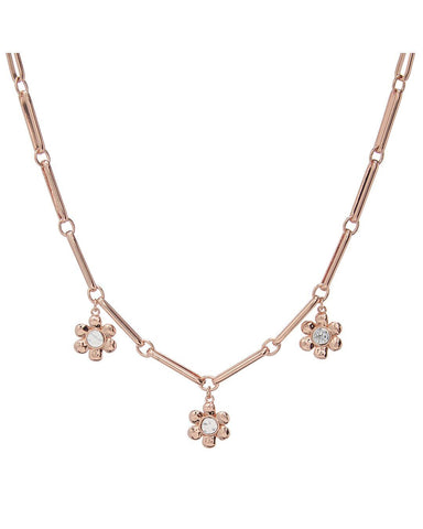 Flora Link Necklace- Rose Gold