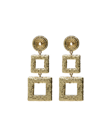 Ceaser Statement Earrings- Gold