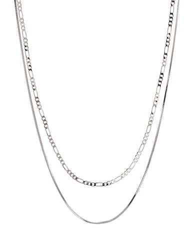 Cecilia Chain Necklace- Silver (Ships Mid May)