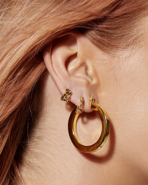 Celine Hoops- Gold (Ships Late January)