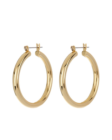 Chiara Tube Hoops-Gold (Ships Early May)