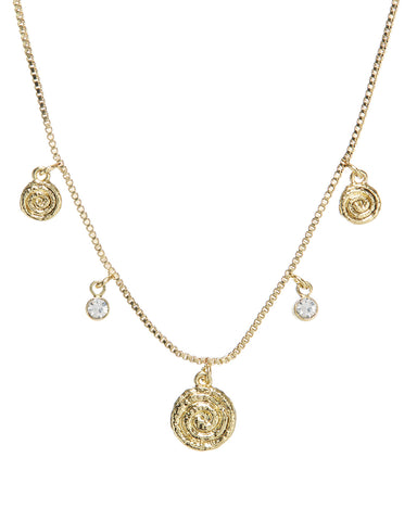 Cicero Charm Necklace- Gold