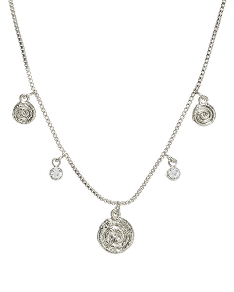 Cicero Charm Necklace- Silver