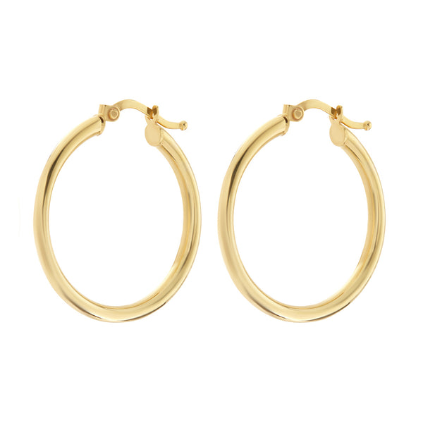 The Classic Tube Hoops- Real 14K Yellow Gold