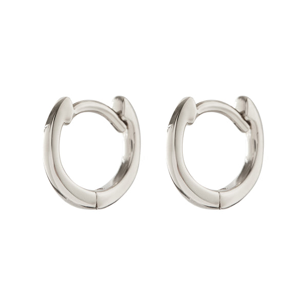 The Classique Huggies- Real 14K White Gold