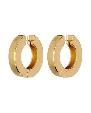 Coco Hinge Hoops- Gold (Ships Late April)